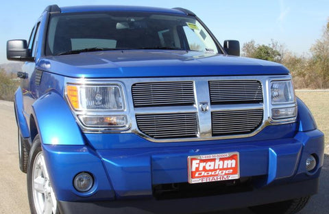 Nitro Grille Overlay 07-12 Dodge Nitro Aluminum Polished 4 Piece Billet Series T-REX Grilles