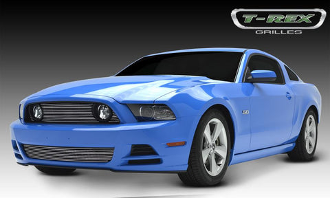 Mustang GT Grille Overlay 13-14 Ford Mustang GT Aluminum Polished 3 Piece Billet Series T-REX Grilles