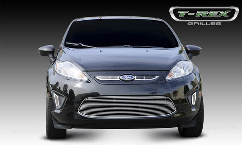 Fiesta Grille Overlay 11-13 Ford Fiesta Aluminum Powdercoat Black 2 Piece Billet Series T-REX Grilles