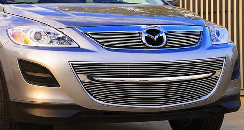 CX9 Grille Overlay 10-12 Mazda CX9 Aluminum Polished 2 Piece Billet Series T-REX Grilles