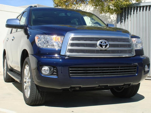 Sequoia Grille Overlay 08-14 Toyota Sequoia Aluminum Polished 4 Piece Billet Series T-REX Grilles
