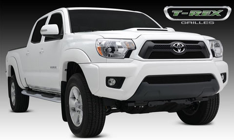 Tacoma Grille Overlay 12-15 Toyota Tacoma Aluminum Powdercoat Black 2 Piece Billet Series T-REX Grilles