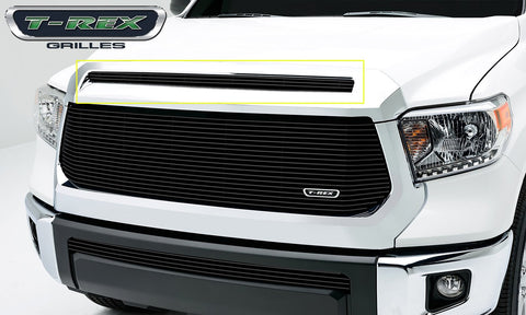 Tundra Grille Overlay 14-17 Toyota Tundra Aluminum Powdercoat Black 1 Piece Billet Series T-REX Grilles
