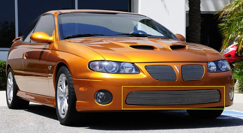 GTO Bumper Grille Insert 04-06 Pontiac GTO Aluminum Polished Billet Series T-REX Grilles