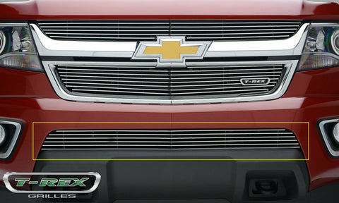 Colorado Bumper Grille 15-18 Chevrolet Colorado Aluminum Polished 1 Piece Billet Series T-REX Grilles