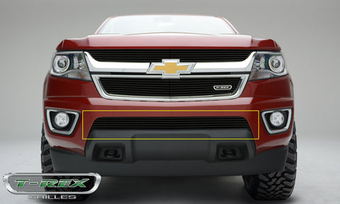 Colorado Bumper Grille 15-18 Chevrolet Colorado Aluminum Powdercoat Black 1 Piece Billet Series T-REX Grilles