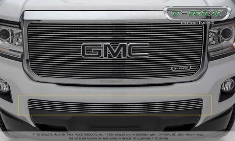 Canyon Bumper Grille 15-18 GMC Canyon Aluminum Polished 1 Piece Billet Series T-REX Grilles