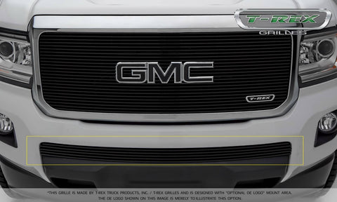 Canyon Bumper Grille 15-18 GMC Canyon Aluminum Powdercoat Black 1 Piece Billet Series T-REX Grilles