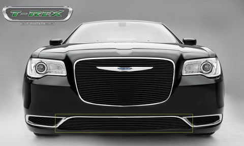 Chrysler 300 Bumper Grille 15-17 Chrysler 300 Aluminum Powdercoat Black 1 Piece Billet Series T-REX Grilles