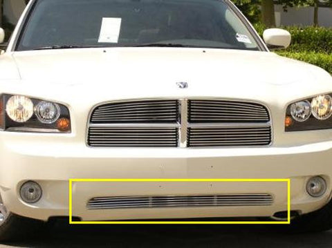 Charger Bumper Grille 05-10 Dodge Charger Aluminum Polished Billet Series T-REX Grilles