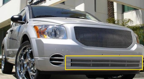 Caliber Bumper Grille Insert 07-12 Dodge Caliber Not SRT Aluminum Polished 2 Piece Billet Series T-REX Grilles