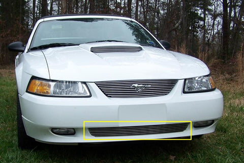 Mustang Bumper Grille Insert 99-04 Ford Mustang Aluminum Polished Billet Series T-REX Grilles