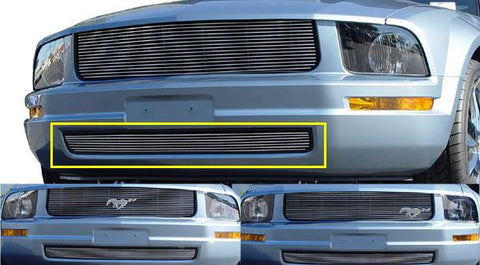 Mustang Bumper Grille 05-09 Ford Mustang LX Aluminum Polished Billet Series T-REX Grilles