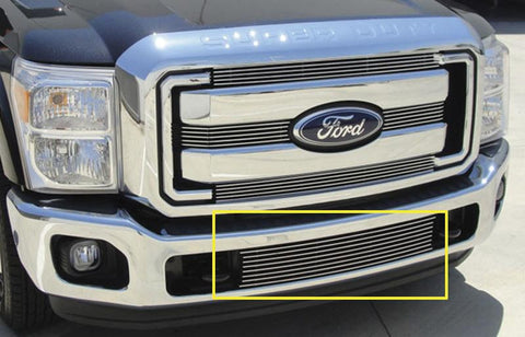 Super Duty Bumper Grille Insert 11-16 Ford Super Duty Aluminum Polished Billet Series T-REX Grilles