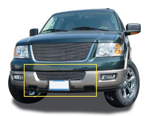 Expdition Bumper Grille Insert 03-06 Ford Expdition Aluminum Polished Billet Series T-REX Grilles