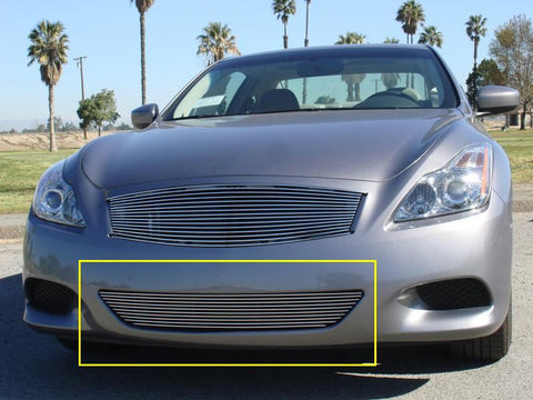 G-37 Coupe Bumper Grille Insert 08-14 Infiniti G-37 Coupe Aluminum Polished 1 Piece Billet Series T-REX Grilles