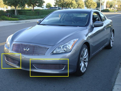 G-37 Coupe Bumper Grille Insert 08-14 Infiniti G-37 Coupe Aluminum Polished 2 Piece Billet Series T-REX Grilles