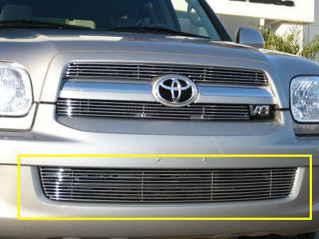 Sequoia Bumper Grille Insert 05-07 Toyota Sequoia Aluminum Polished Billet Series T-REX Grilles