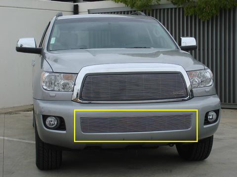 Sequoia Bumper Grille Insert 08-14 Toyota Sequoia Aluminum Polished Billet Series T-REX Grilles