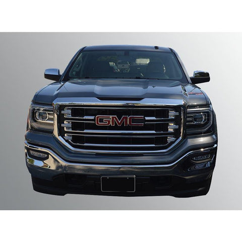 Trim Illusion Gloss Black Grille Insert/Overlay Fits 2016-2017 GMC SIERRA 1500 SLT