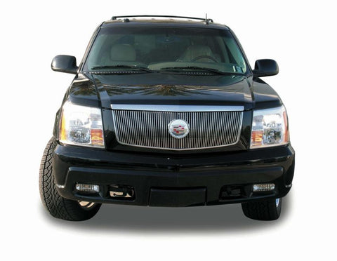 Escalade Grille Insert Vertical W/Center Billet Logo Plate 02-06 Cadillac Escalade EXT/ESV Aluminum Polished Billet Series T-REX Grilles