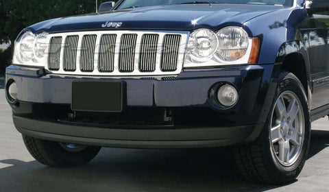 Grand Cherokee Grille Insert 05-10 Jeep Grand Cherokee Aluminum Polished Billet Series T-REX Grilles