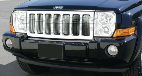 Commander Grille Insert 06-10 Jeep Commander Aluminum Polished Billet Series T-REX Grilles