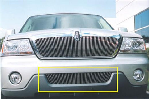 Aviator Bumper Grille Insert 03-06 Lincoln Aviator Aluminum Polished Billet Series T-REX Grilles