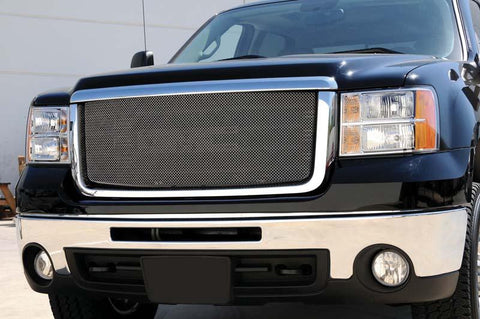 Sierra HD Grille 07-10 GMC Sierra HD Stainless Triple Chrome Plated Sport Series T-REX Grilles