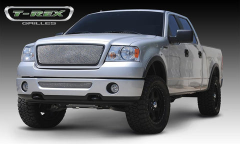 F-150 Grille 04-08 Ford F-150 No Logo Stainless Chrome Sport Series T-REX Grilles