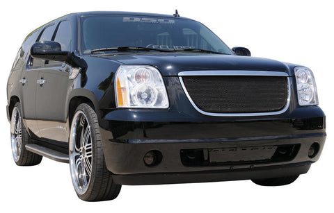 Yukon Grille 07-14 GMC Yukon Mild Steel Powdercoat Black Sport Series T-REX Grilles
