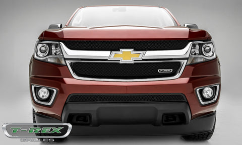 Colorado Grille 15-18 Chevrolet Colorado Stainless Powdercoat Black 1 Piece Sport Series T-REX Grilles