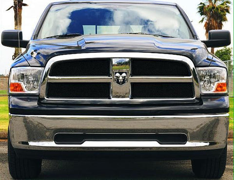 Ram 1500 Grille 09-12 Dodge Ram 1500 Mild Steel Powdercoat Black 4 Piece Sport Series T-REX Grilles
