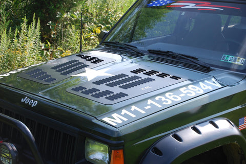 XJ Series Louvered Hood Panel Hyline Offroad