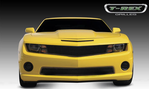 Camaro All Grille 10-13 Chevrolet Camaro All Mild Steel Powdercoat Black 1 Piece Upper Class Series T-REX Grilles