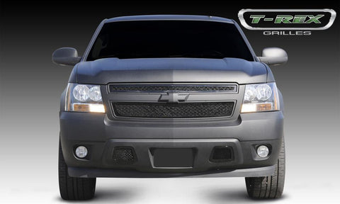 Chevy Grille 07-13 Chevrolet Tahoe/Suburban/Avalanche Mild Steel Powdercoat Black 2 Piece Upper Class Series T-REX Grilles