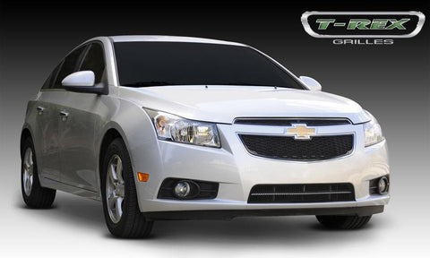 Cruze Grille 11-14 Chevrolet Cruze Mild Steel Powdercoat Black 2 Piece Upper Class Series T-REX Grilles