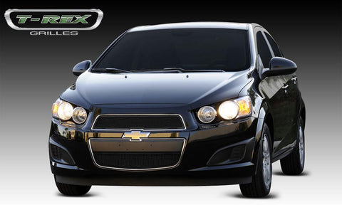 Sonic Grille 12-14 Chevrolet Sonic Mild Steel Powdercoat Black 2 Piece Upper Class Series T-REX Grilles