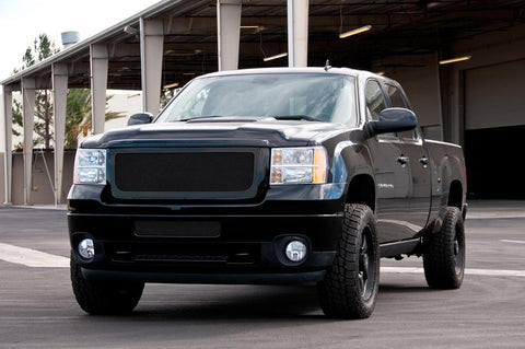 Sierra HD Grille 11-14 GMC Sierra HD Mild Steel Powdercoat Black Upper Class Series T-REX Grilles
