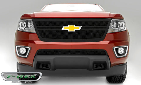 Colorado Grille 15-18 Chevrolet Colorado Main Grille W/2 Center Bars Mild Steel Powdercoat Black 1 Piece Upper Class Series T-REX Grilles