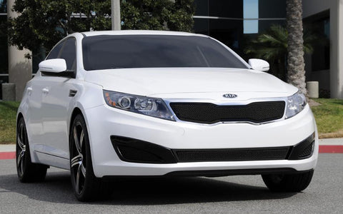 Optima Grille 11-13 Kia Optima Mild Steel Powdercoat Black Upper Class Series T-REX Grilles