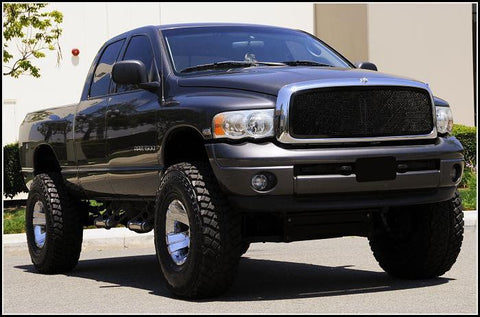 Ram Grille 02-05 Dodge Ram Mild Steel Powdercoat Black 1 Piece Upper Class Series T-REX Grilles
