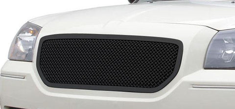 Magnum Grille 05-07 Dodge Magnum Not SRT Mild Steel Powdercoat Black Upper Class Series T-REX Grilles