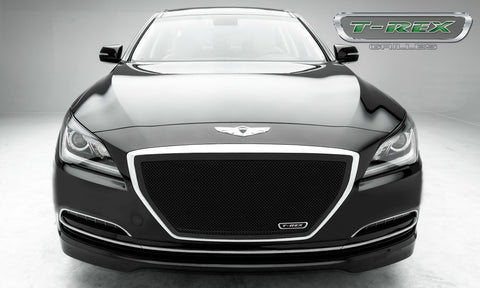Genesis Grille 15-15 Hyundai Genesis Mild Steel Powdercoat Black Upper Class Series T-REX Grilles