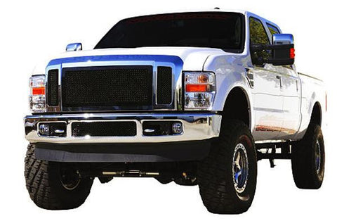 Super Duty Grille 08-10 Ford Super Duty Mild Steel Powdercoat Black 3 Piece Upper Class Series T-REX Grilles