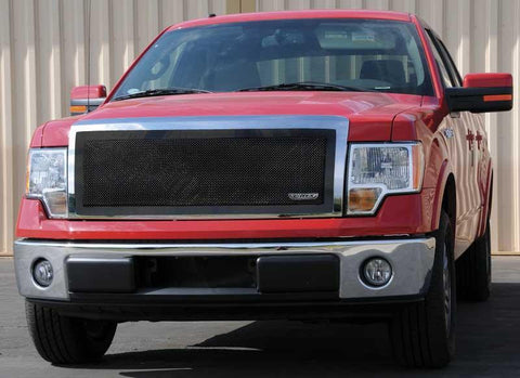 F-150 Grille 09-12 Ford F-150 Mild Steel Powdercoat Black 1 Piece Upper Class Series T-REX Grilles