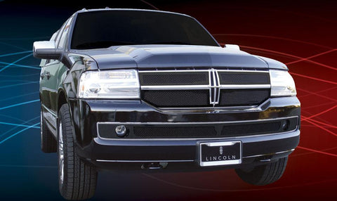 Navigator Grille 07-14 Lincoln Navigator Mild Steel Powdercoat Black 4 Piece Upper Class Series T-REX Grilles