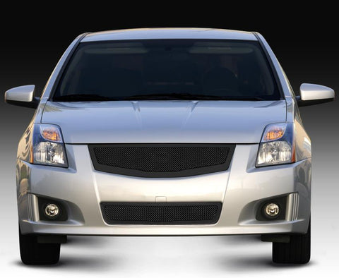 Sentra Grille 08-12 Nissan Sentra 2.0 Mild Steel Powdercoat Black Upper Class Series T-REX Grilles