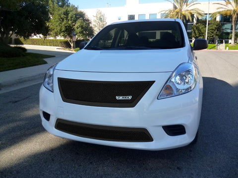Versa Sedan Grille 12-14 Nissan Versa Sedan Mild Steel Powdercoat Black Upper Class Series T-REX Grilles