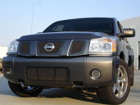 Titan Grille 08-14 Nissan Titan Mild Steel Powdercoat Black 3 Piece Upper Class Series T-REX Grilles